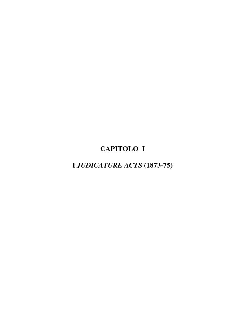 Anteprima della tesi: La riforma dell'ordinamento giudiziario nell'Inghilterra di fine '800, Pagina 1