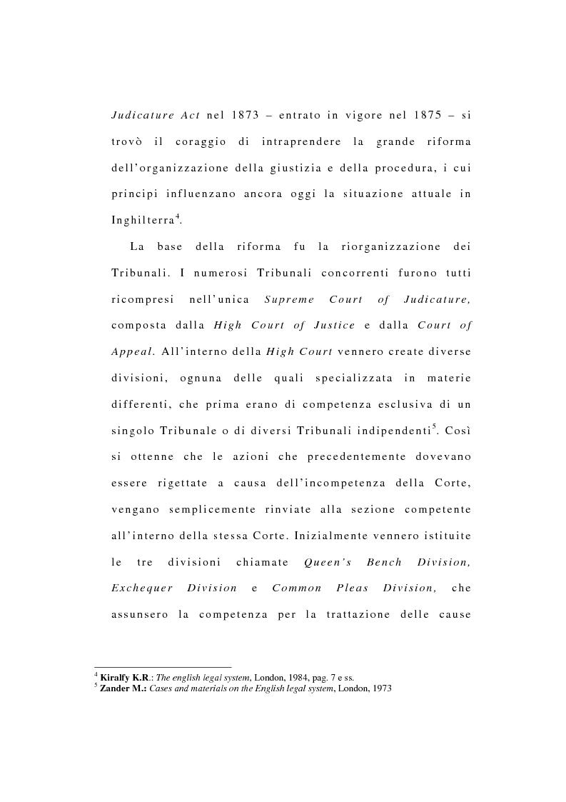 Anteprima della tesi: La riforma dell'ordinamento giudiziario nell'Inghilterra di fine '800, Pagina 5