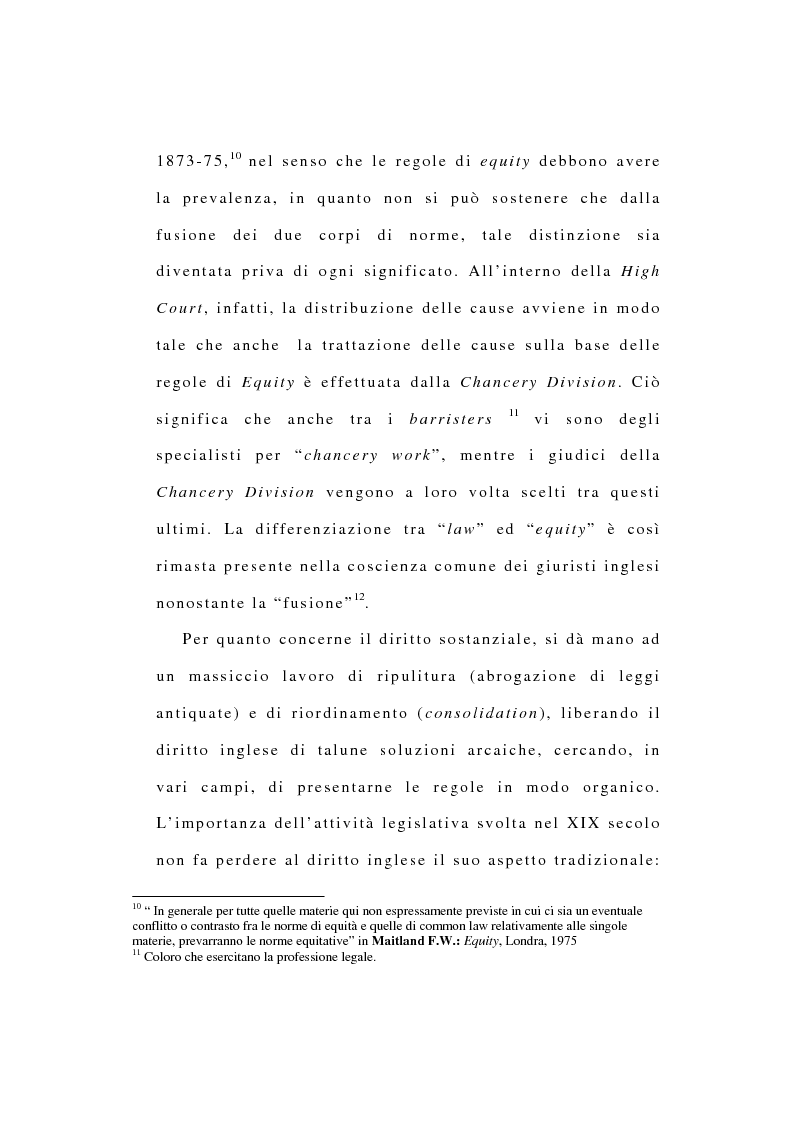 Anteprima della tesi: La riforma dell'ordinamento giudiziario nell'Inghilterra di fine '800, Pagina 8
