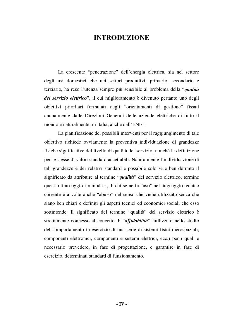 Anteprima della tesi: Sulla qualità del servizio elettrico alle utenze, Pagina 2