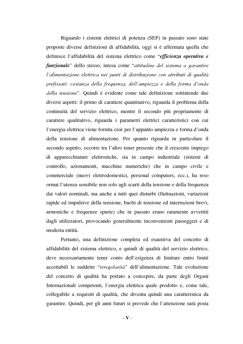 Anteprima della tesi: Sulla qualità del servizio elettrico alle utenze, Pagina 3