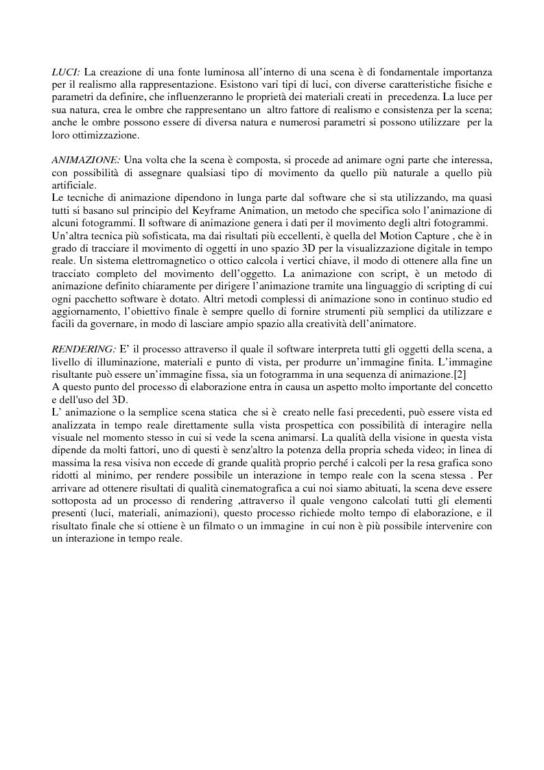 Anteprima della tesi: Grafica tridimensionale e comunicazione integrata su web. Evoluzione e prospettive, Pagina 5