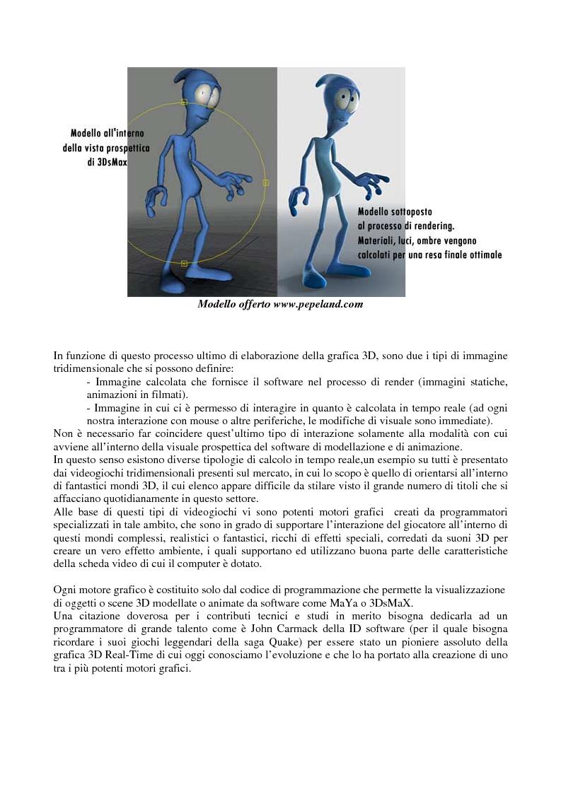 Anteprima della tesi: Grafica tridimensionale e comunicazione integrata su web. Evoluzione e prospettive, Pagina 6