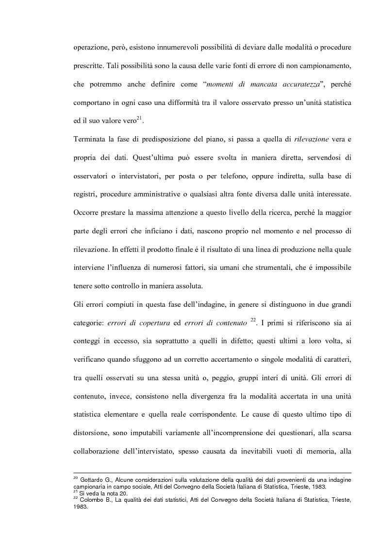 Anteprima della tesi: Il miglioramento della qualità dei dati statistici, Pagina 10