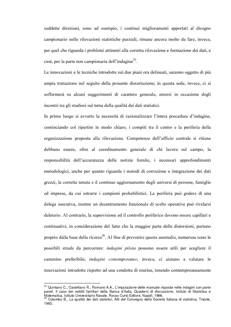 Anteprima della tesi: Il miglioramento della qualità dei dati statistici, Pagina 13