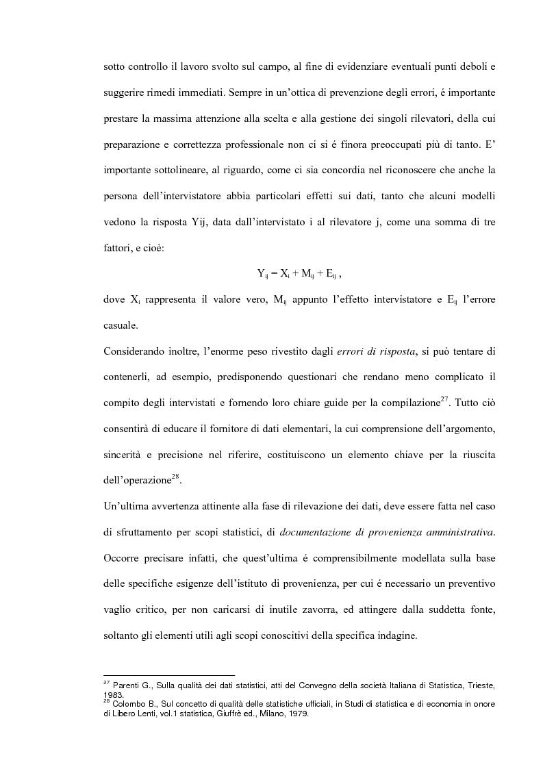 Anteprima della tesi: Il miglioramento della qualità dei dati statistici, Pagina 14