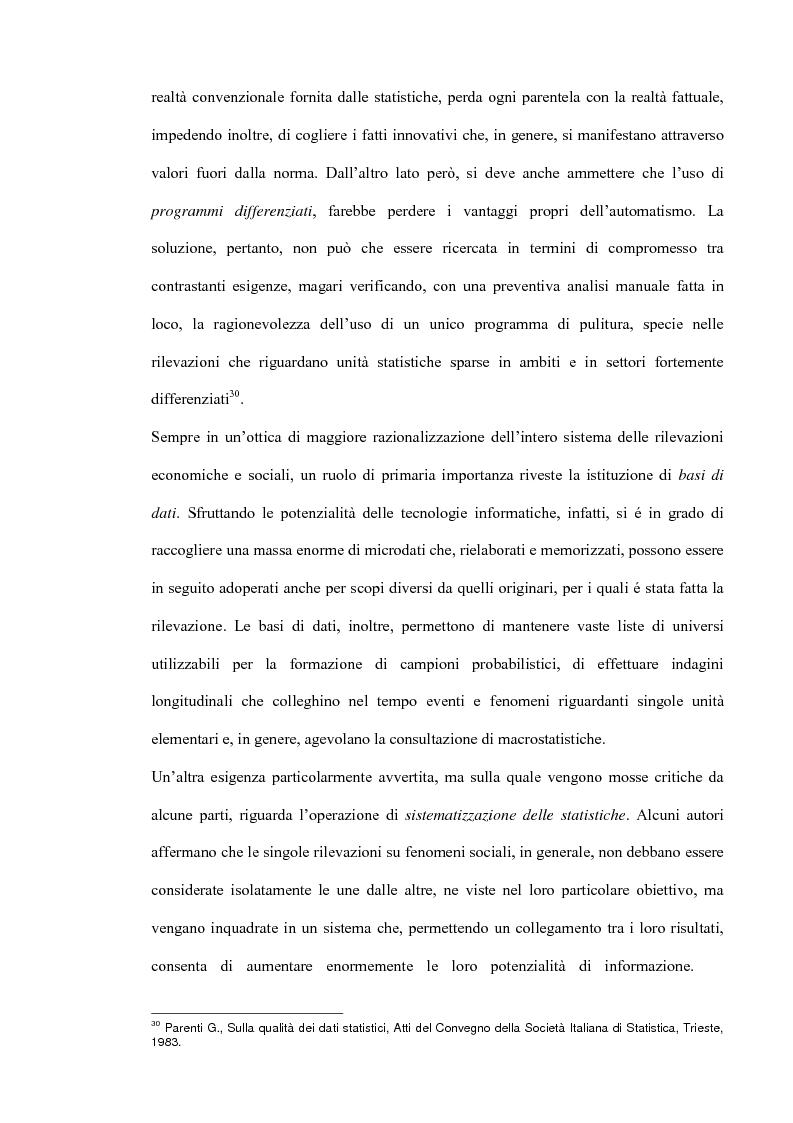Anteprima della tesi: Il miglioramento della qualità dei dati statistici, Pagina 16