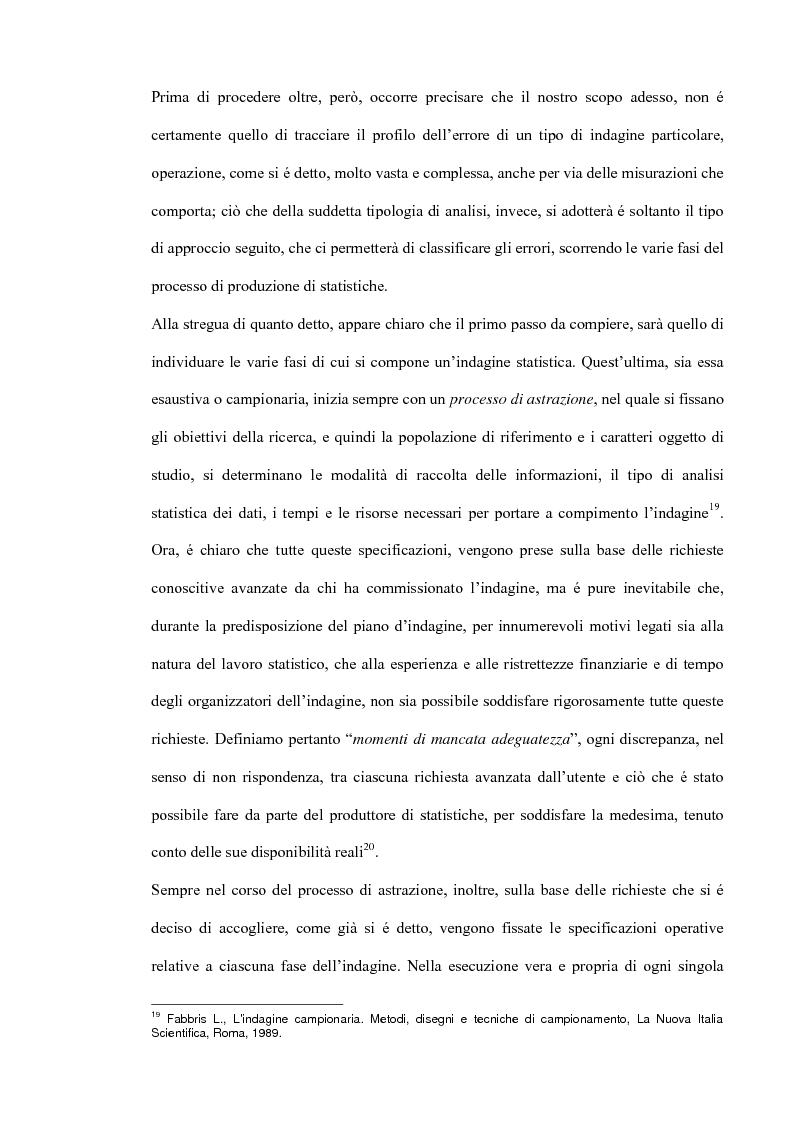 Anteprima della tesi: Il miglioramento della qualità dei dati statistici, Pagina 9