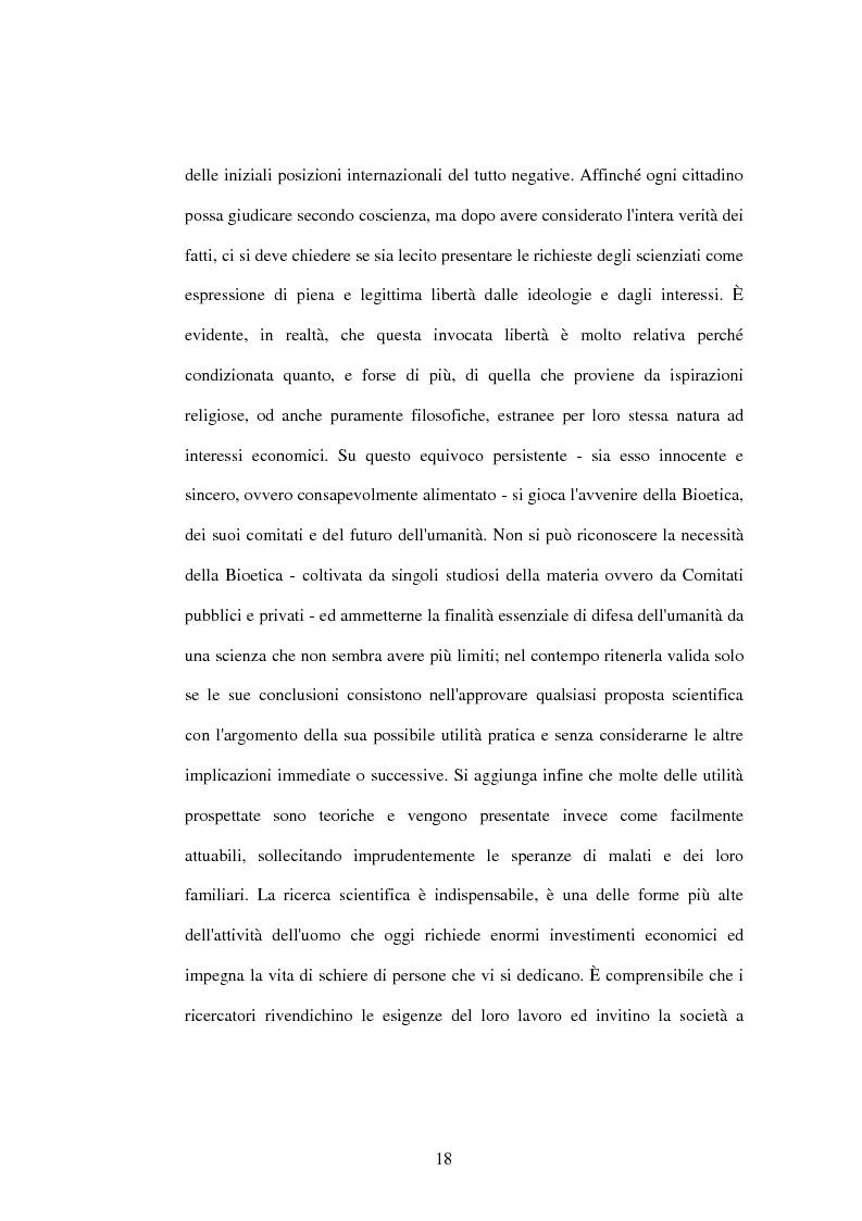 Anteprima della tesi: La difesa e il rispetto degli embrioni umani nella bioetica morale cattolica, Pagina 12