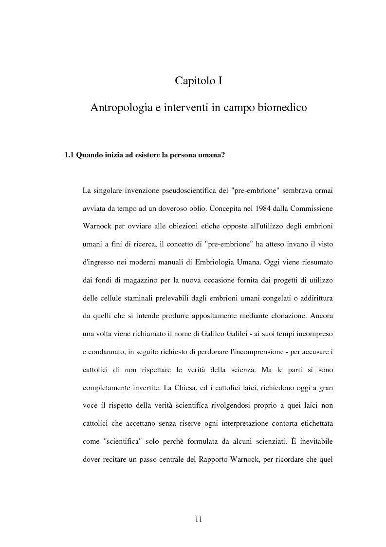 Anteprima della tesi: La difesa e il rispetto degli embrioni umani nella bioetica morale cattolica, Pagina 5