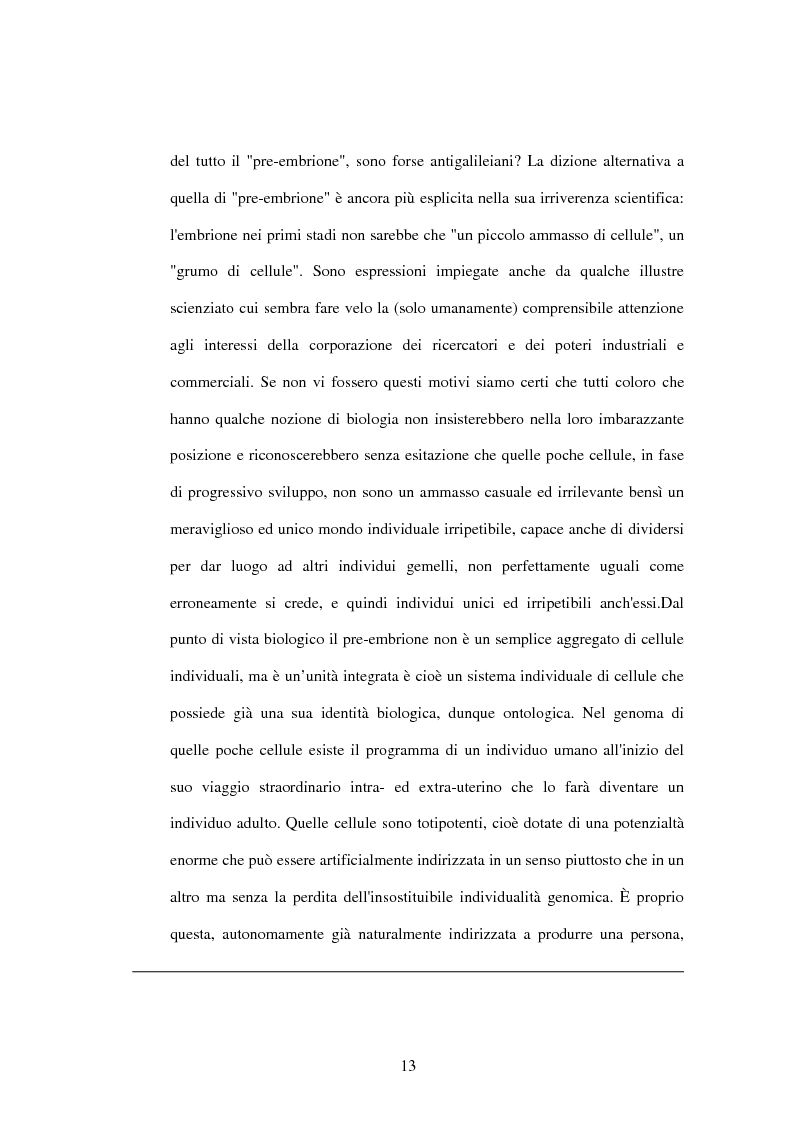 Anteprima della tesi: La difesa e il rispetto degli embrioni umani nella bioetica morale cattolica, Pagina 7