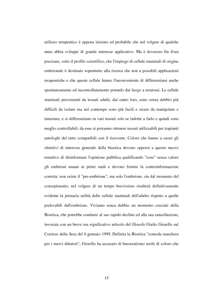 Anteprima della tesi: La difesa e il rispetto degli embrioni umani nella bioetica morale cattolica, Pagina 9