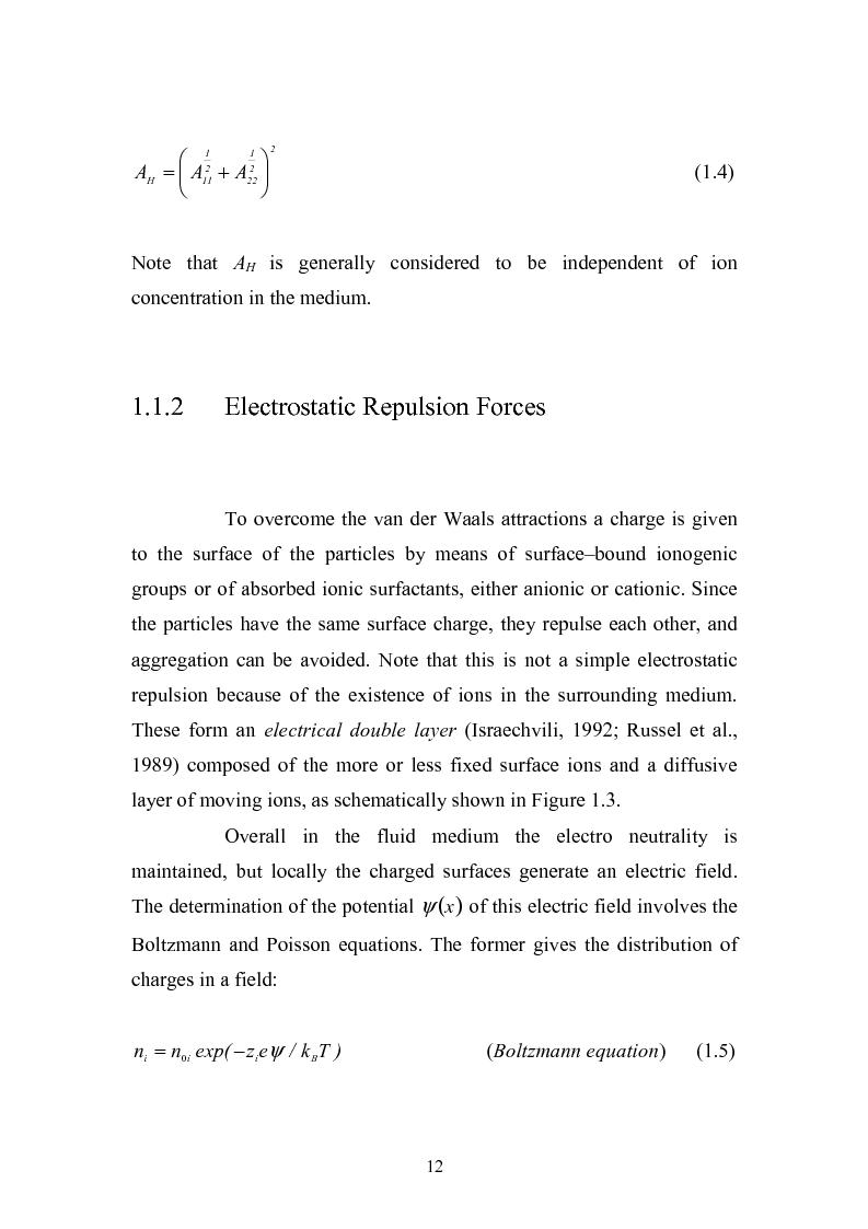 Anteprima della tesi: Gelation of polymer colloids in a mechnically agitated column, Pagina 10