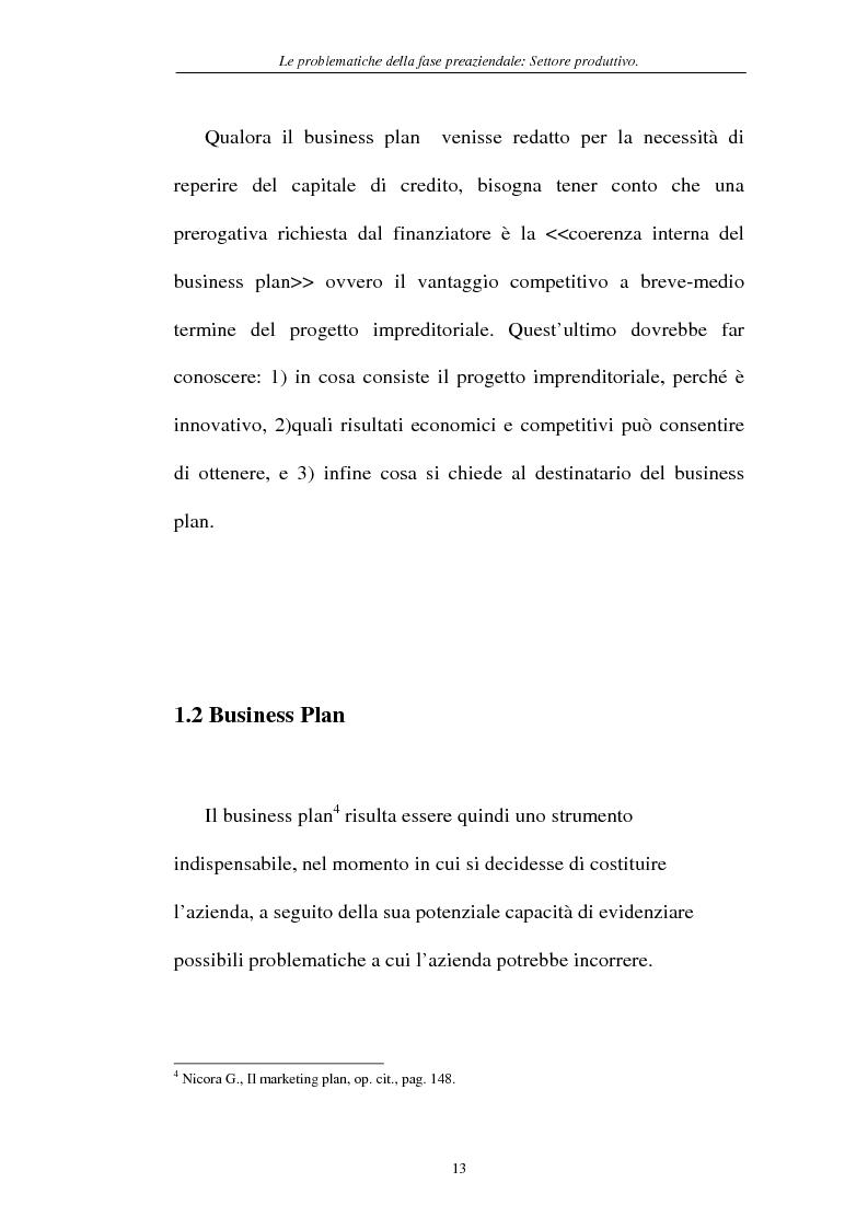 Anteprima della tesi: Le problematiche della fase pre-aziendale, Pagina 10
