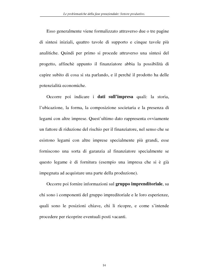 Anteprima della tesi: Le problematiche della fase pre-aziendale, Pagina 11