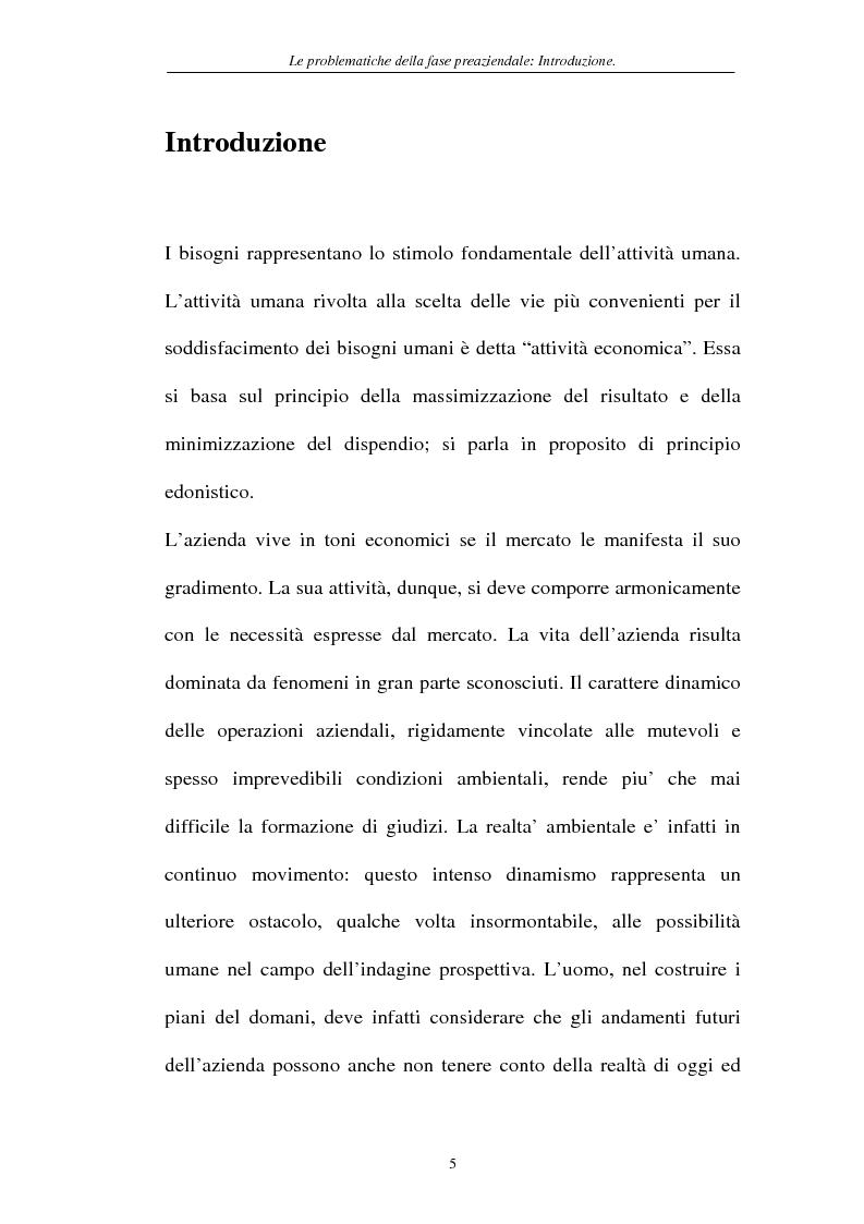 Anteprima della tesi: Le problematiche della fase pre-aziendale, Pagina 2
