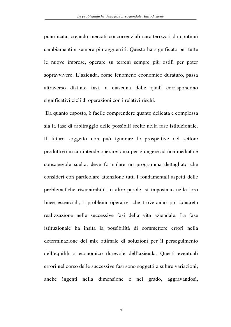 Anteprima della tesi: Le problematiche della fase pre-aziendale, Pagina 4