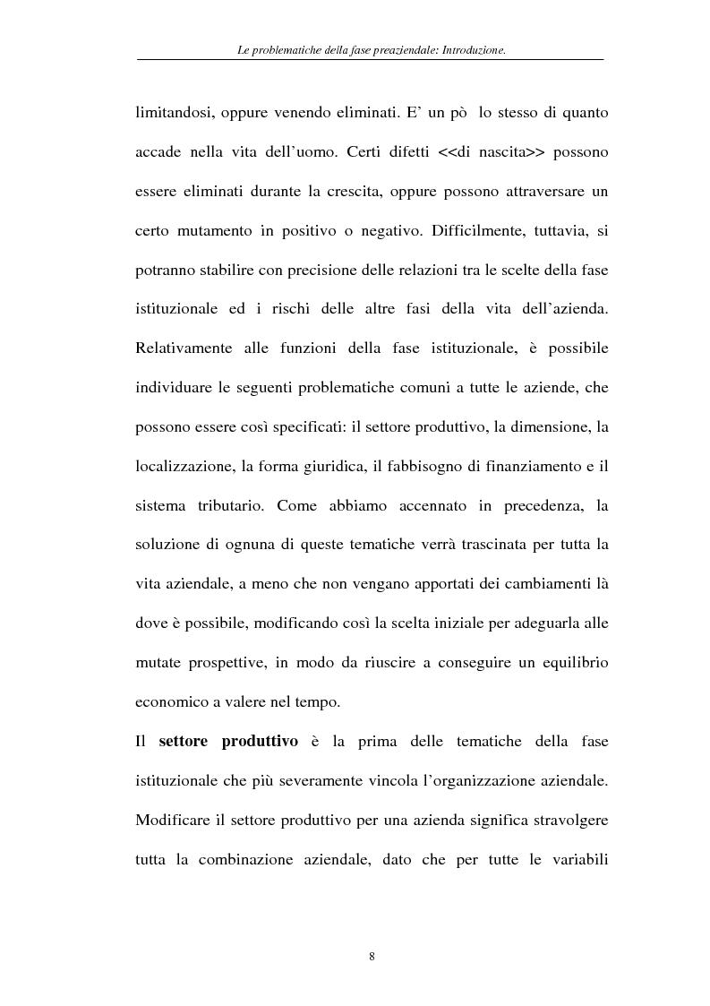 Anteprima della tesi: Le problematiche della fase pre-aziendale, Pagina 5