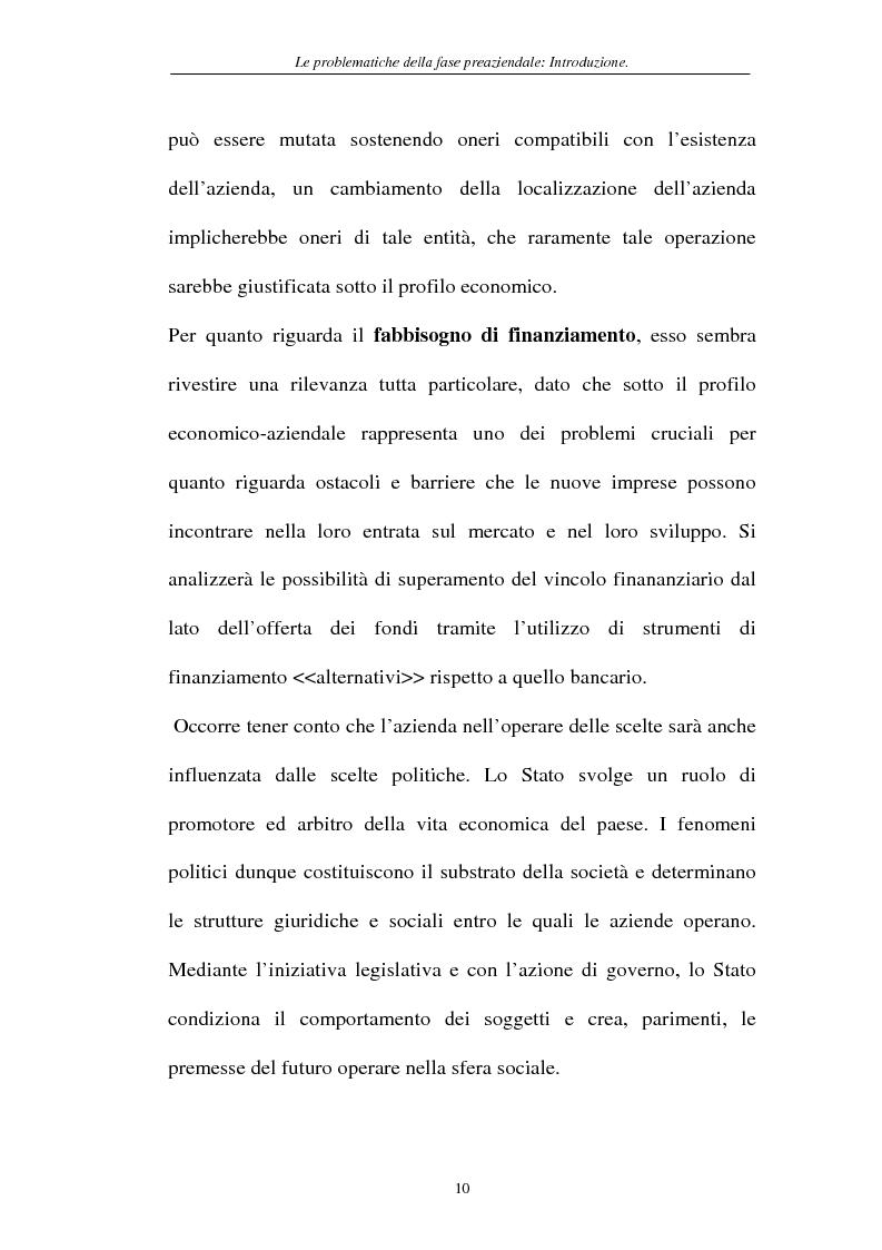 Anteprima della tesi: Le problematiche della fase pre-aziendale, Pagina 7