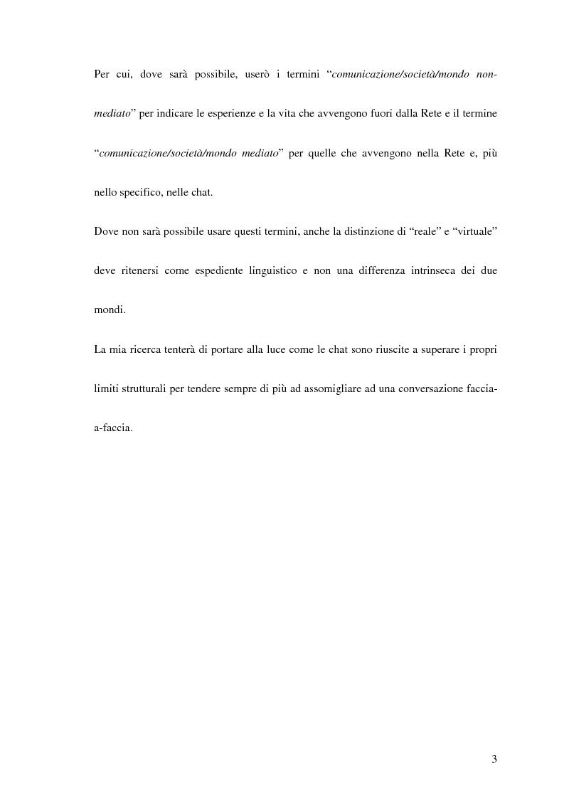 Anteprima della tesi: La comunicazione interpersonale sulle chat, Pagina 3