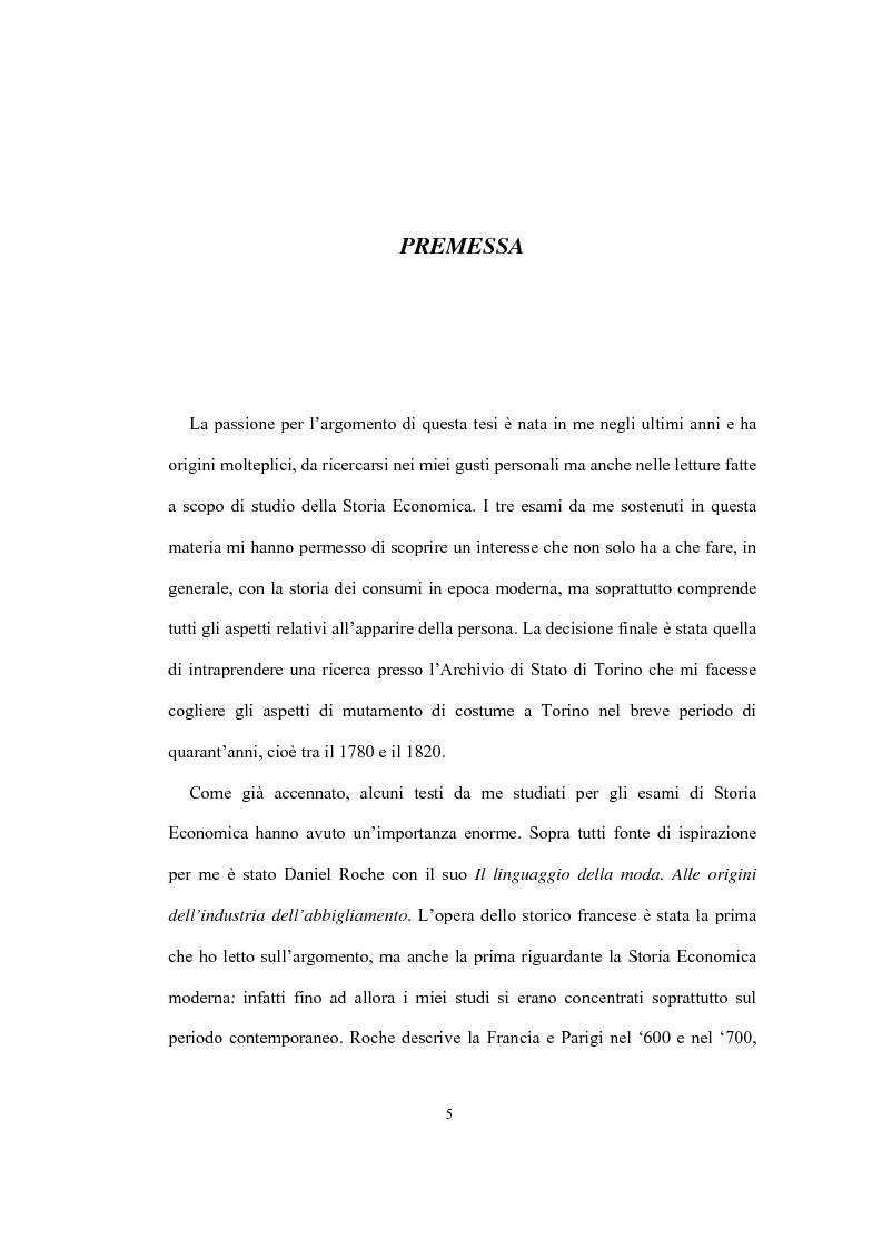 Anteprima della tesi: Mi vesto alla moda. Abbigliamento femminile a Torino tra Antico regime e restaurazione., Pagina 1