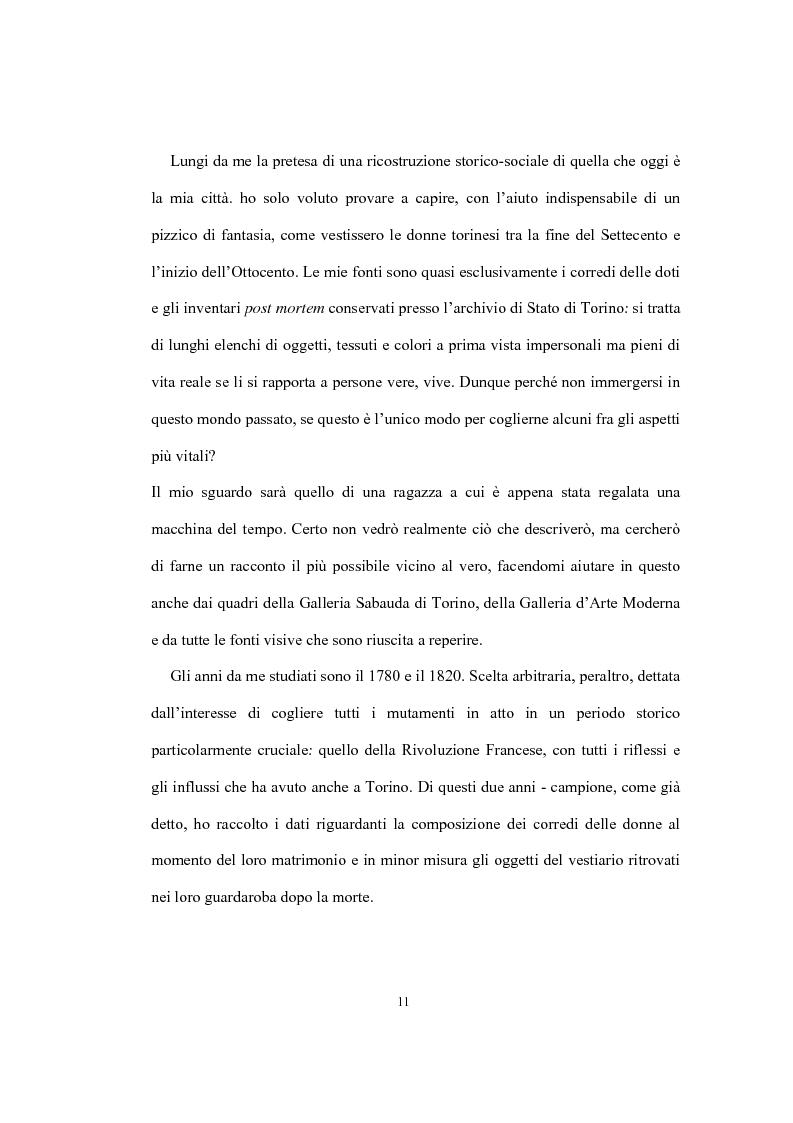 Anteprima della tesi: Mi vesto alla moda. Abbigliamento femminile a Torino tra Antico regime e restaurazione., Pagina 7