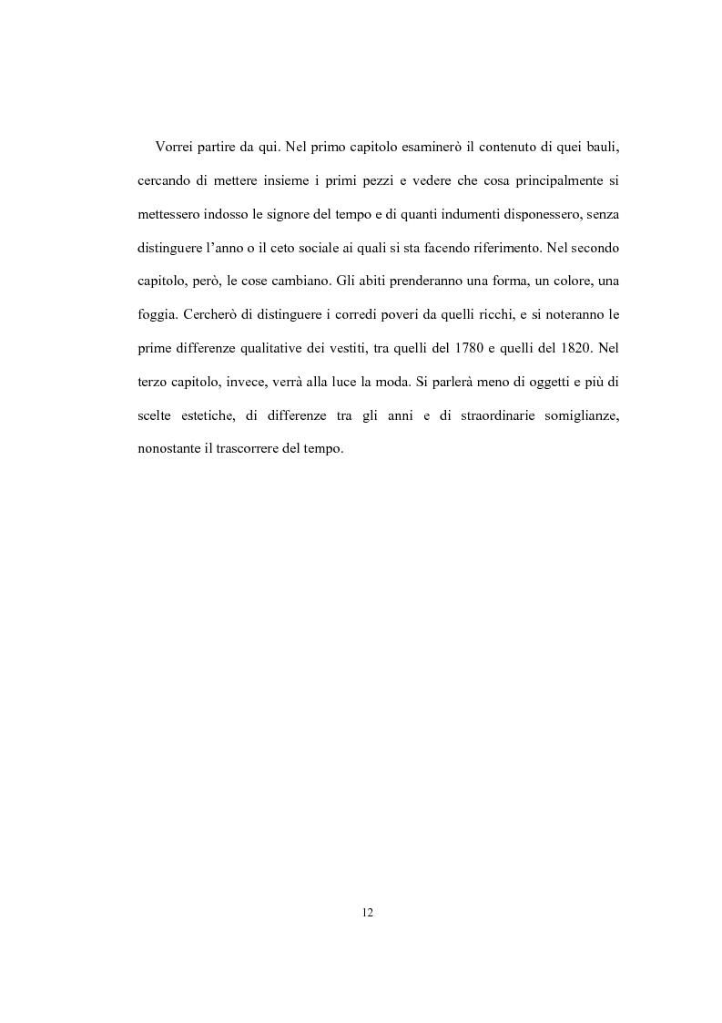 Anteprima della tesi: Mi vesto alla moda. Abbigliamento femminile a Torino tra Antico regime e restaurazione., Pagina 8