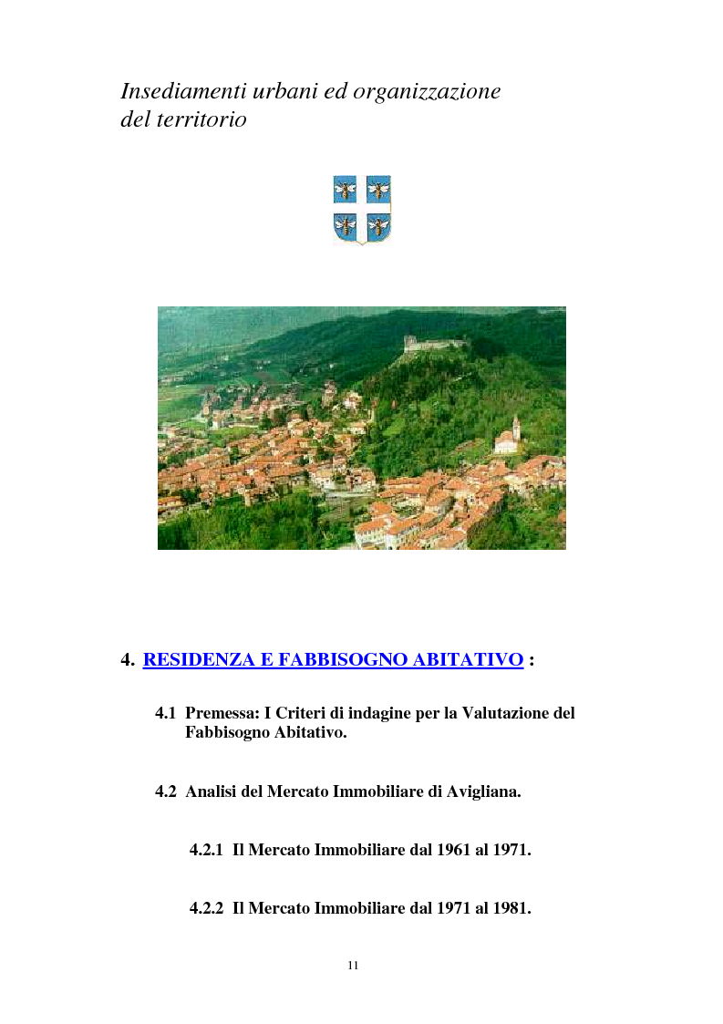 Indice della tesi: Il Piano Regolatore Generale di Avigliana (To). Esame della sua formazione, Pagina 4