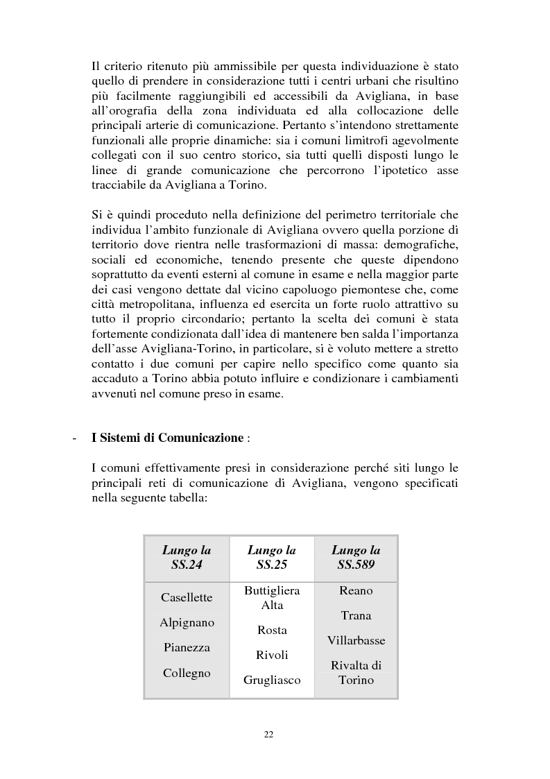 Anteprima della tesi: Il Piano Regolatore Generale di Avigliana (To). Esame della sua formazione, Pagina 9