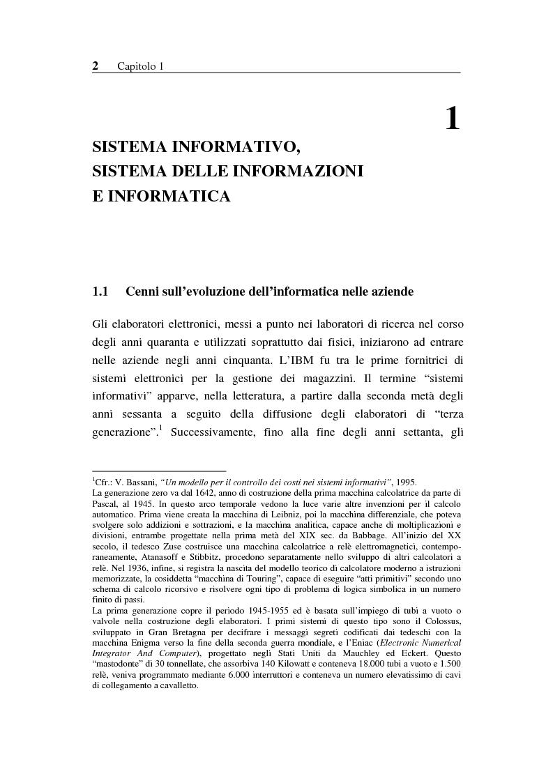 Anteprima della tesi: Il sistema informativo bancario: efficienza, efficacia e analisi delle prestazioni, Pagina 1