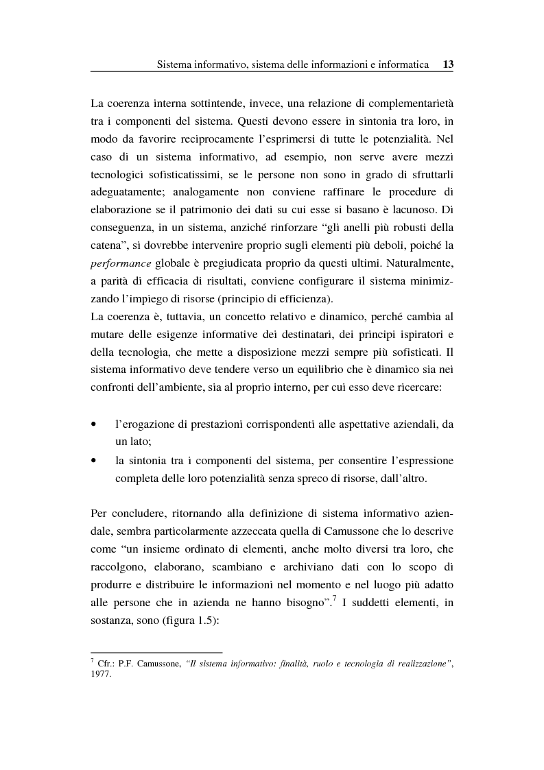 Anteprima della tesi: Il sistema informativo bancario: efficienza, efficacia e analisi delle prestazioni, Pagina 12