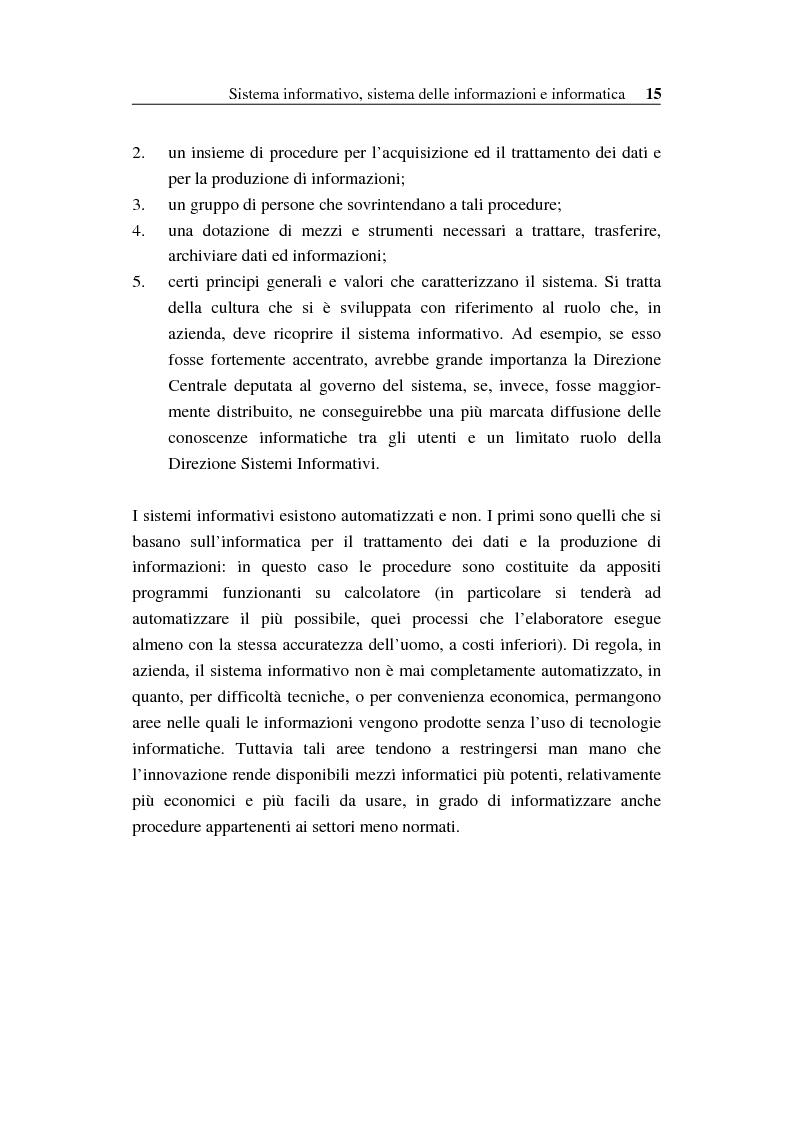 Anteprima della tesi: Il sistema informativo bancario: efficienza, efficacia e analisi delle prestazioni, Pagina 14