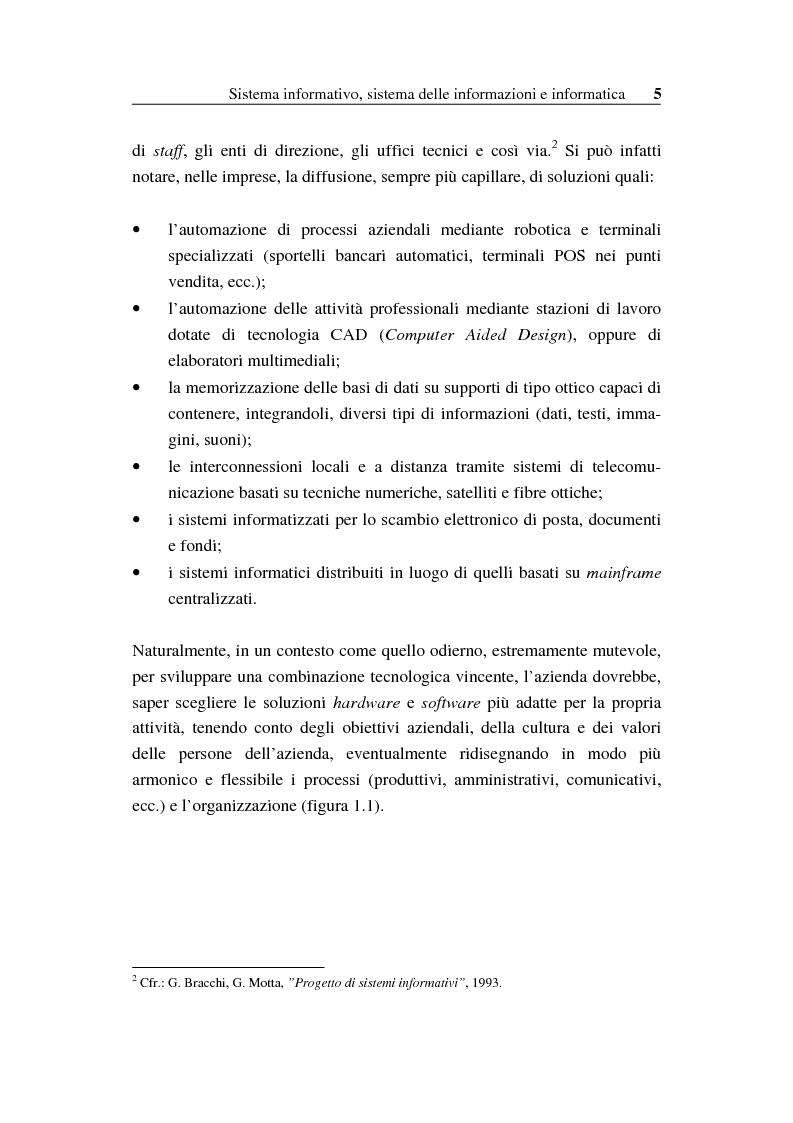 Anteprima della tesi: Il sistema informativo bancario: efficienza, efficacia e analisi delle prestazioni, Pagina 4