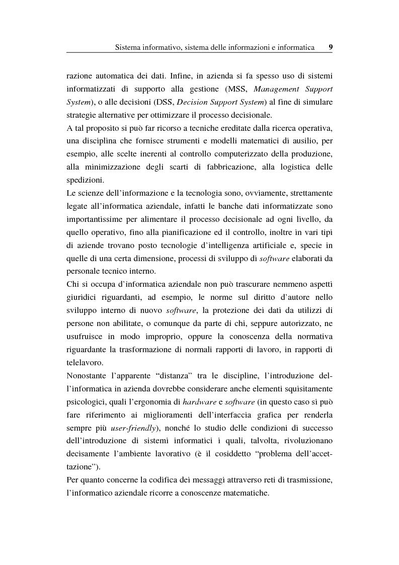 Anteprima della tesi: Il sistema informativo bancario: efficienza, efficacia e analisi delle prestazioni, Pagina 8