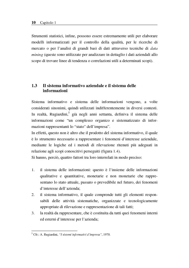Anteprima della tesi: Il sistema informativo bancario: efficienza, efficacia e analisi delle prestazioni, Pagina 9