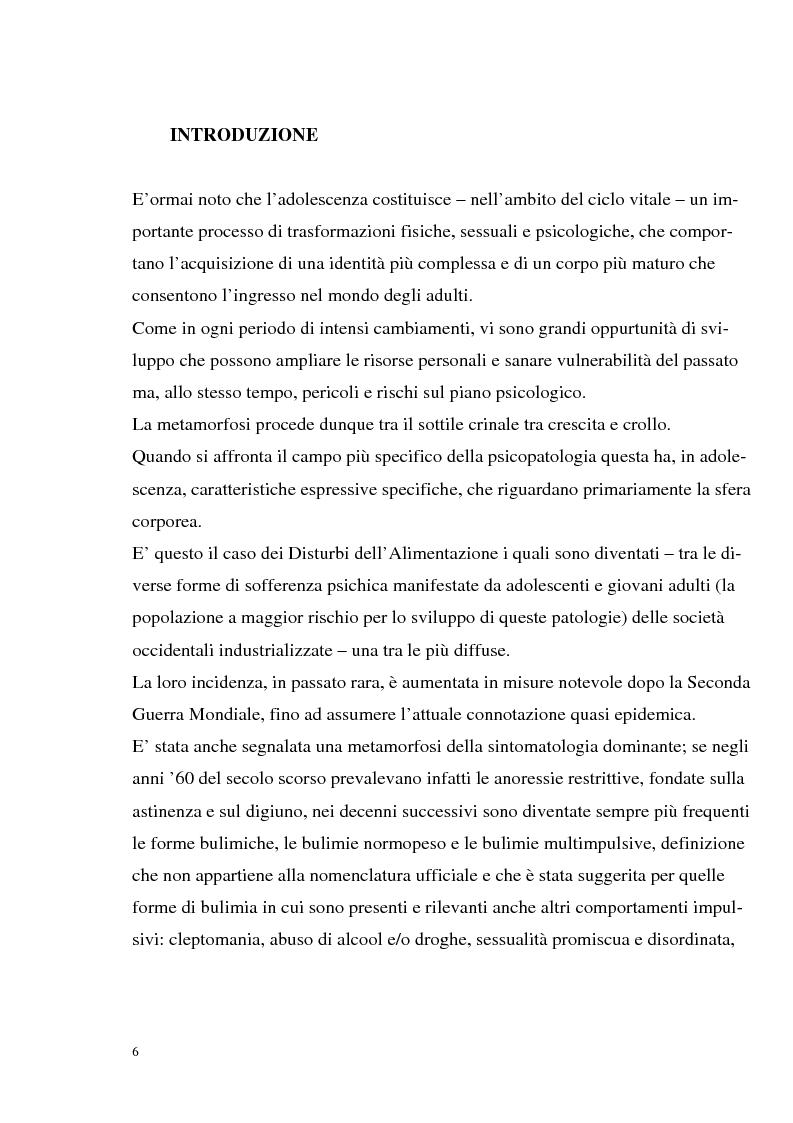 Anteprima della tesi: I disturbi dell'alimentazione in adolescenza, Pagina 1