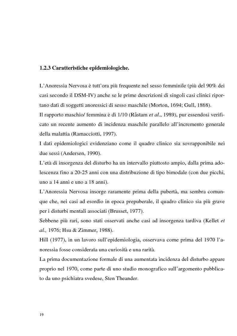 Anteprima della tesi: I disturbi dell'alimentazione in adolescenza, Pagina 14