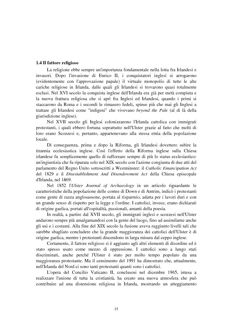 Anteprima della tesi: La questione irlandese sui quotidiani inglesi degli ultimi vent'anni, Pagina 11