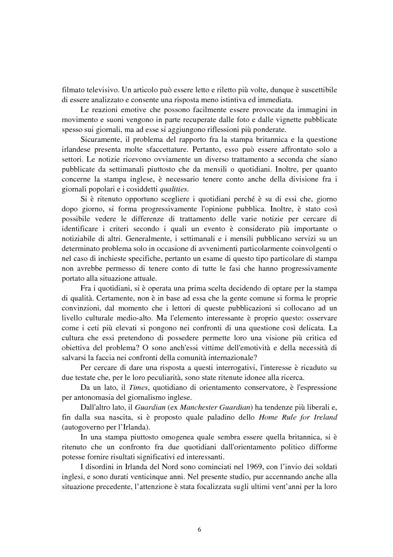 Anteprima della tesi: La questione irlandese sui quotidiani inglesi degli ultimi vent'anni, Pagina 2