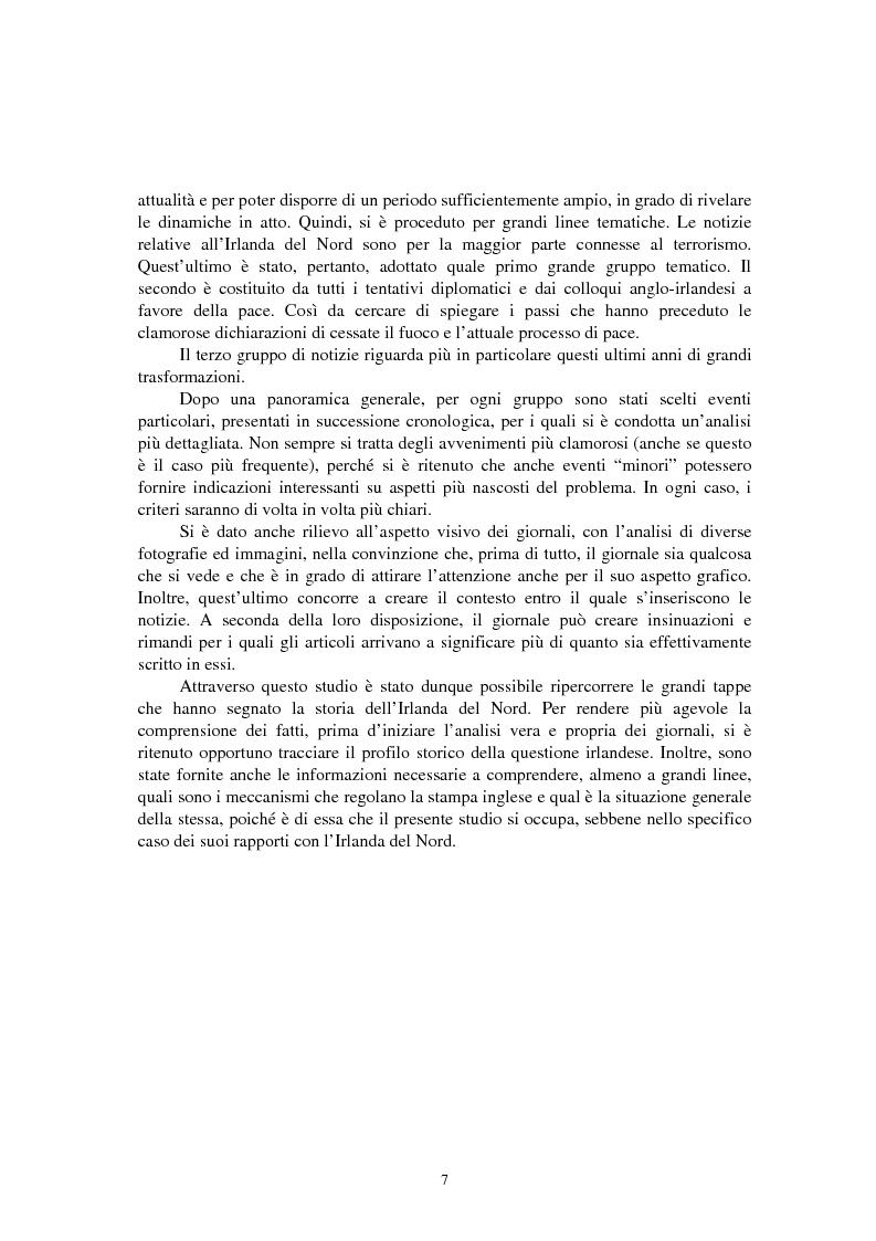 Anteprima della tesi: La questione irlandese sui quotidiani inglesi degli ultimi vent'anni, Pagina 3