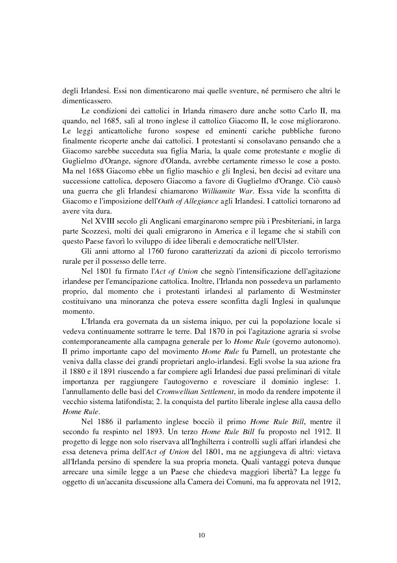 Anteprima della tesi: La questione irlandese sui quotidiani inglesi degli ultimi vent'anni, Pagina 6