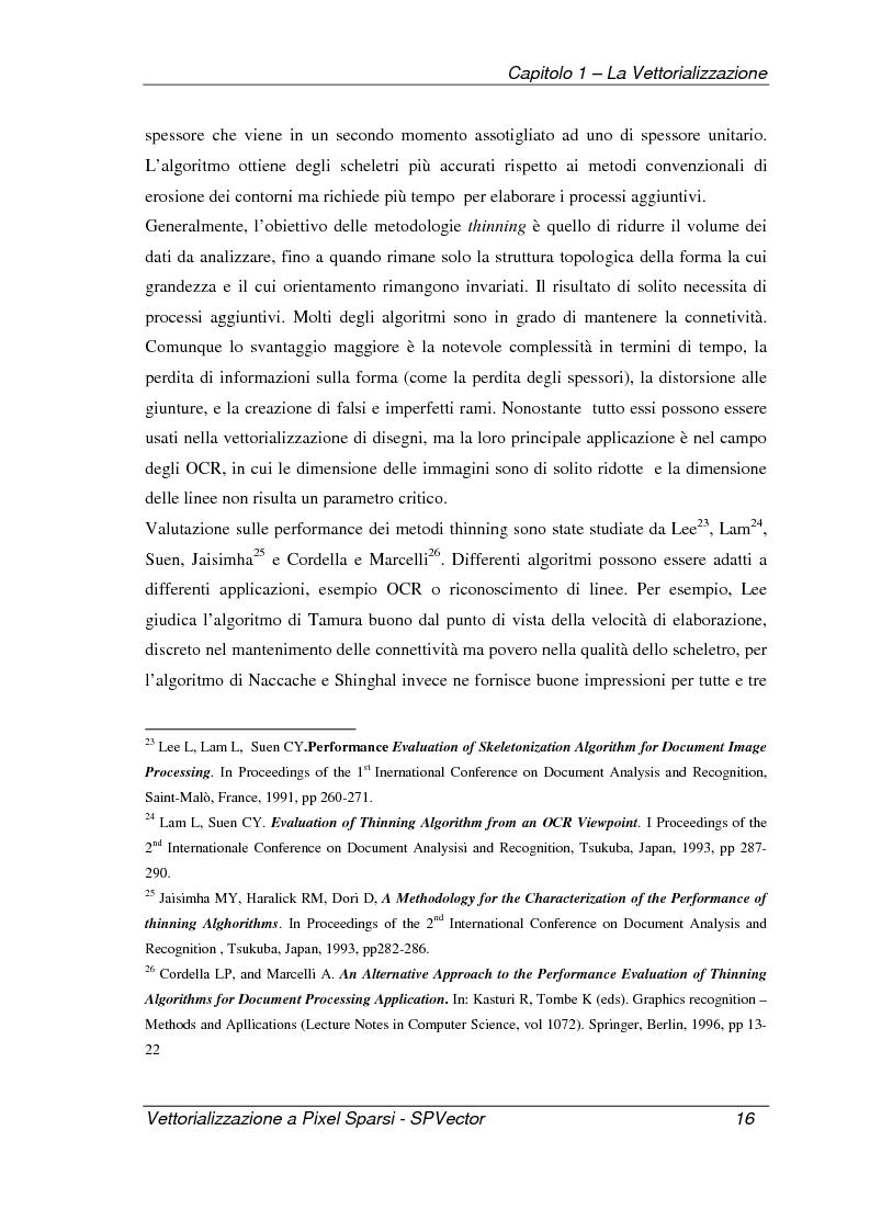Anteprima della tesi: Applicazione per la vettorializzazione di immagini a pixel sparsi: SPVector, Pagina 13