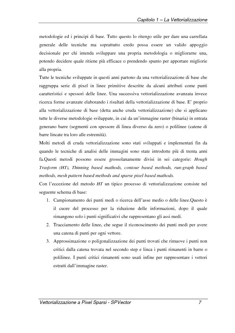 Anteprima della tesi: Applicazione per la vettorializzazione di immagini a pixel sparsi: SPVector, Pagina 4