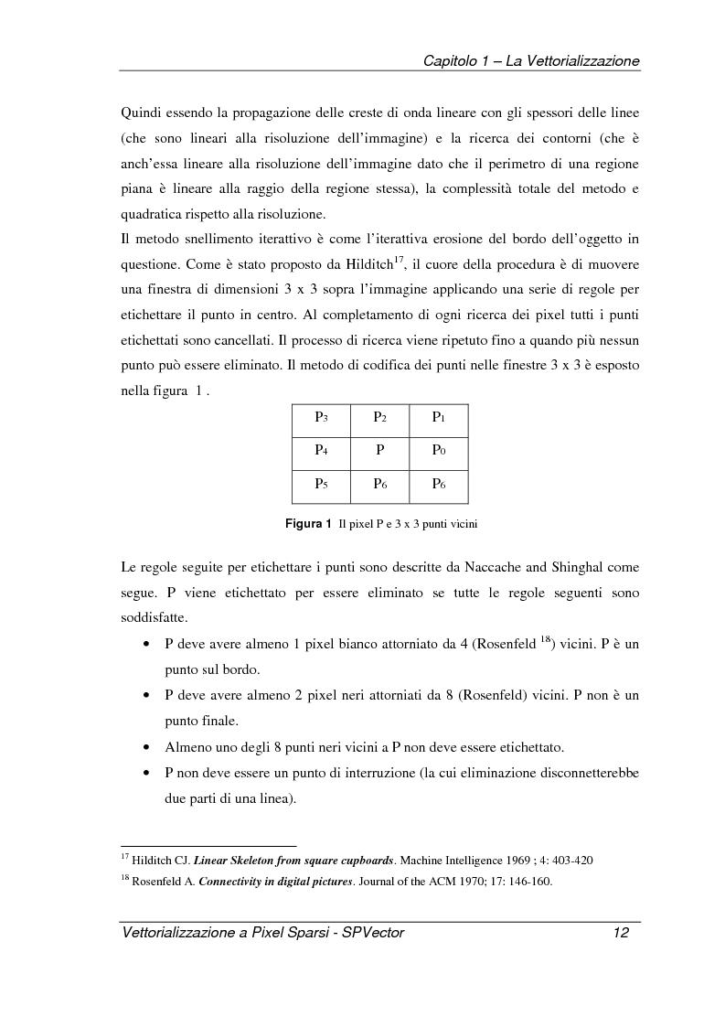 Anteprima della tesi: Applicazione per la vettorializzazione di immagini a pixel sparsi: SPVector, Pagina 9