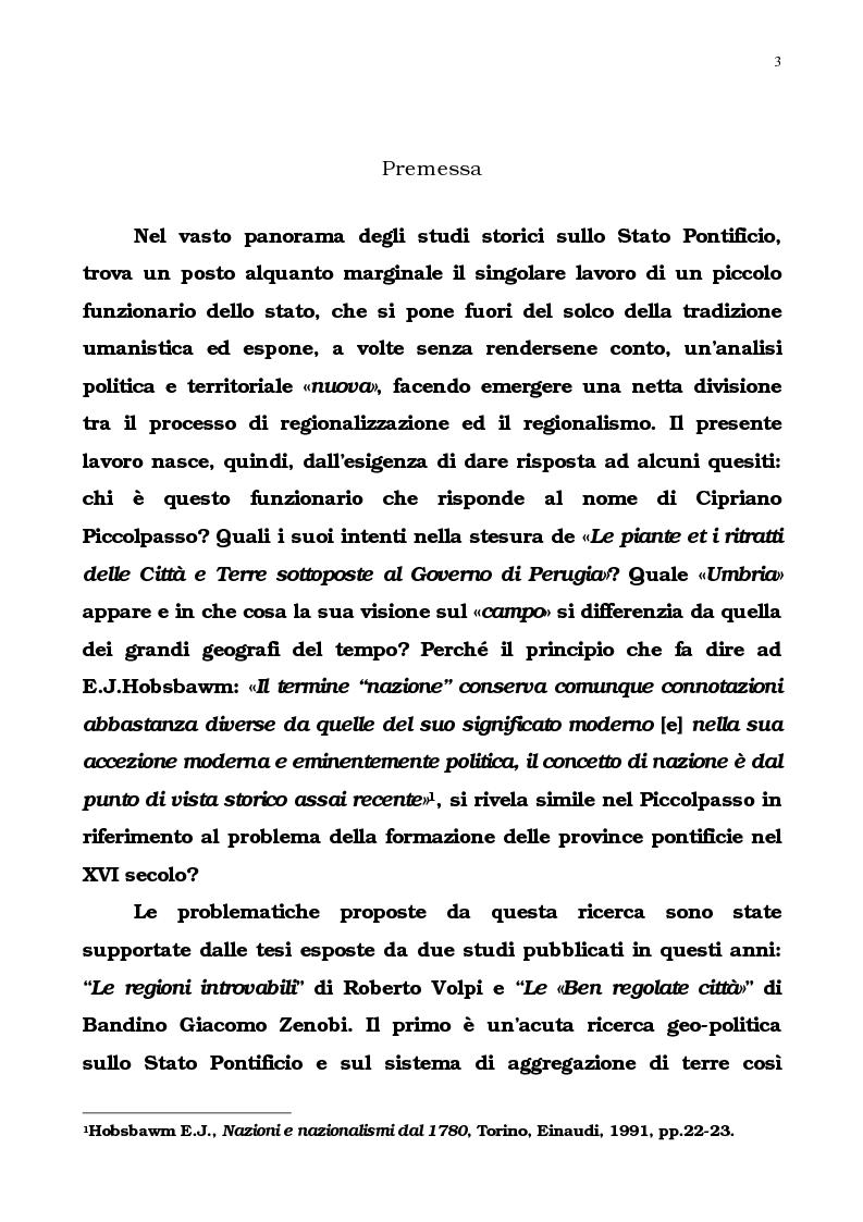 Anteprima della tesi: L'Umbria di Cipriano Piccolpasso, Pagina 1