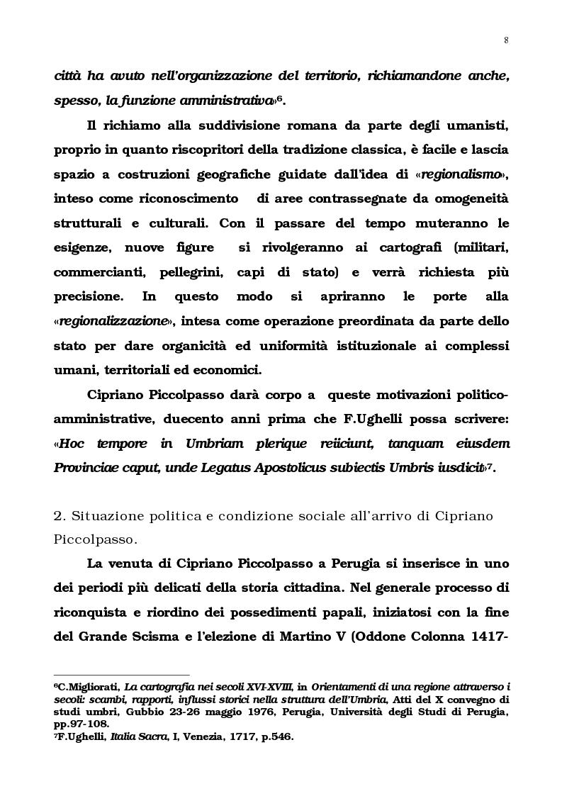 Anteprima della tesi: L'Umbria di Cipriano Piccolpasso, Pagina 6