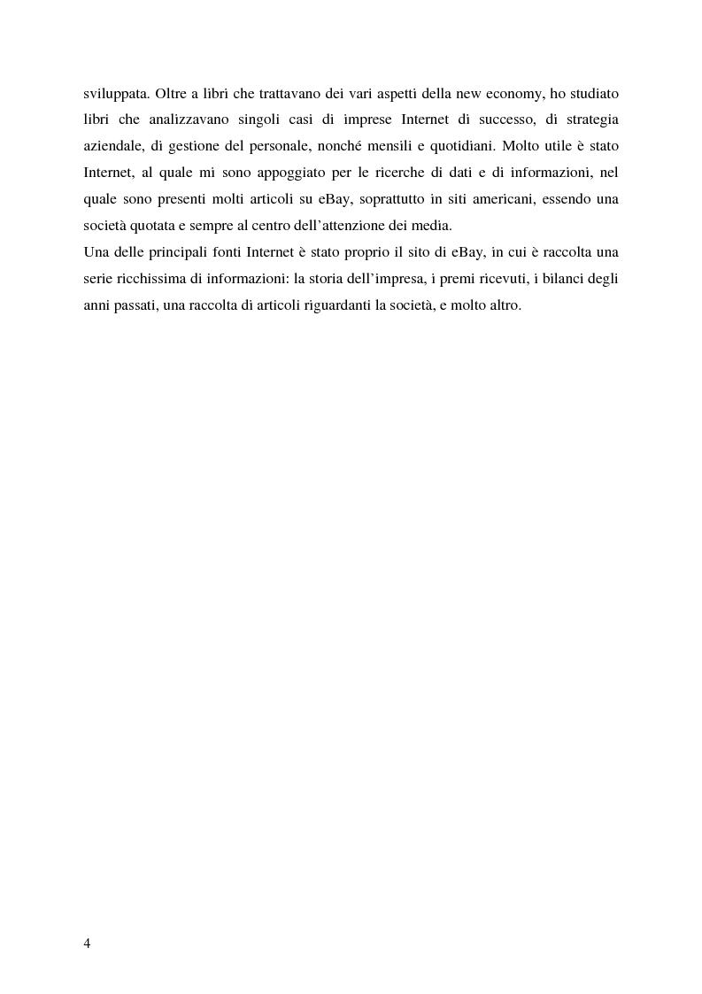 Anteprima della tesi: Profitti e Internet: il caso eBay, Pagina 3