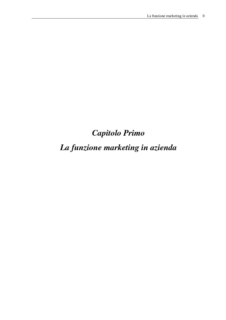 Anteprima della tesi: Evoluzione della funzione marketing tra new e old economy, con particolari riferimenti alle nuove tecnologie informatiche, Pagina 4