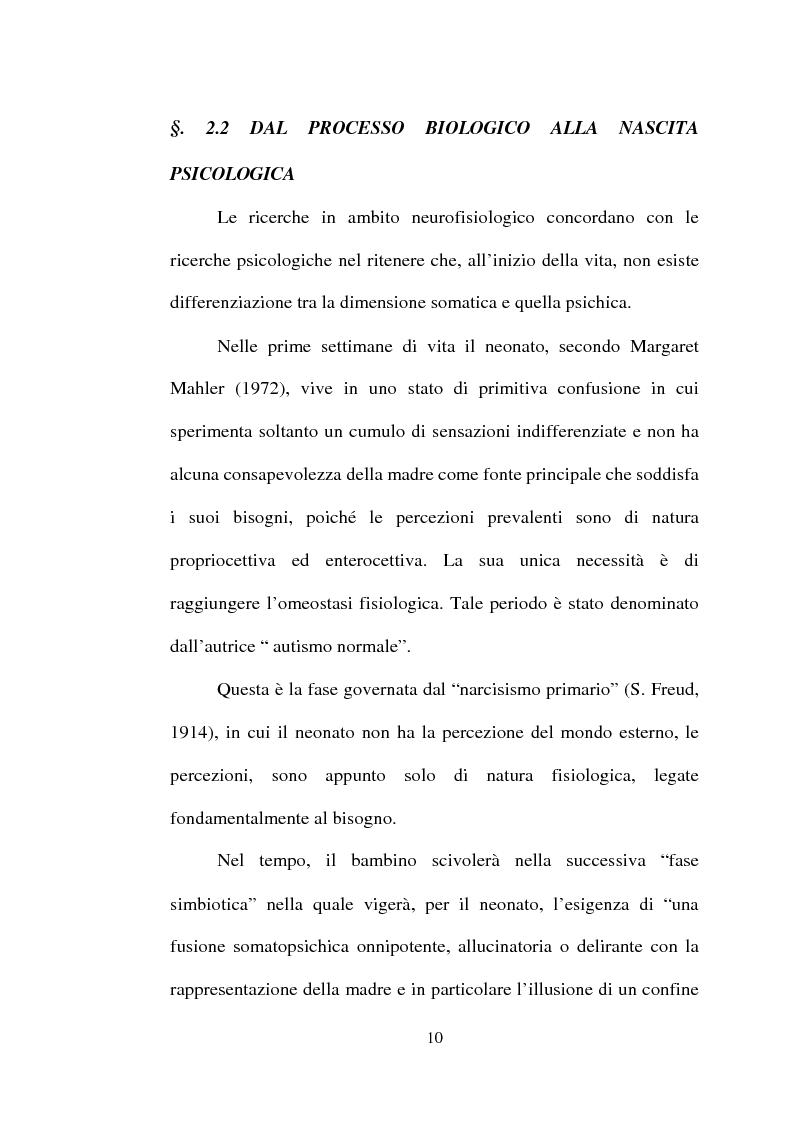Anteprima della tesi: La dinamica mente-corpo in gravidanza. Un'indagine empirica su un gruppo di gestanti attraverso il test di Rorschach, Pagina 10