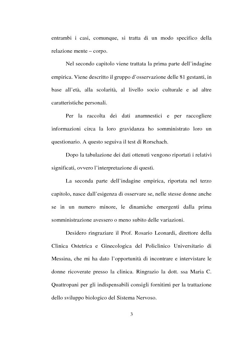 Anteprima della tesi: La dinamica mente-corpo in gravidanza. Un'indagine empirica su un gruppo di gestanti attraverso il test di Rorschach, Pagina 3
